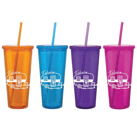 Happy Falcon Camper Straw Cup
