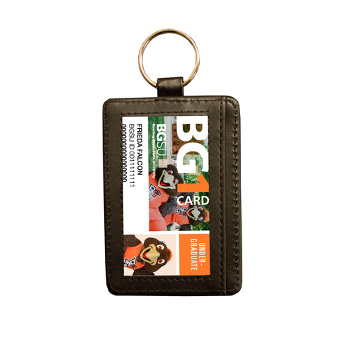 Debossed ID Holder Keychain