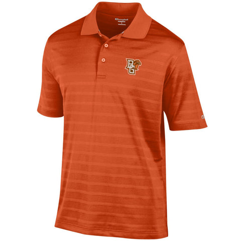 Men's Champion Textured Orange Polo