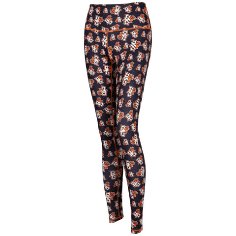 Ladies Allover Peekaboo Logo Leggings
