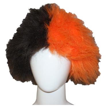 Orange and Brown BGSU Wig