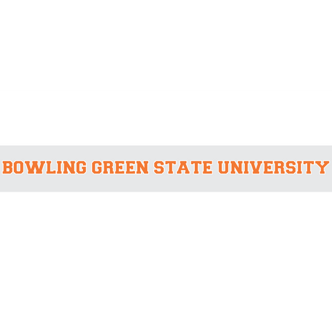 "BGSU car decal 1.5""x22.5"""