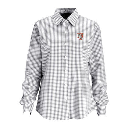 Ladies Easy-Care Gingham Check Shirt