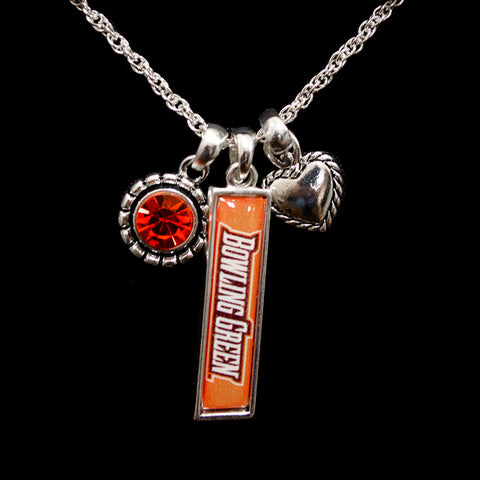 Triple Charm Bowling Green Necklace