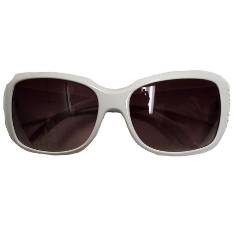 White Peekaboo Falcon Sparkle Sunglasses