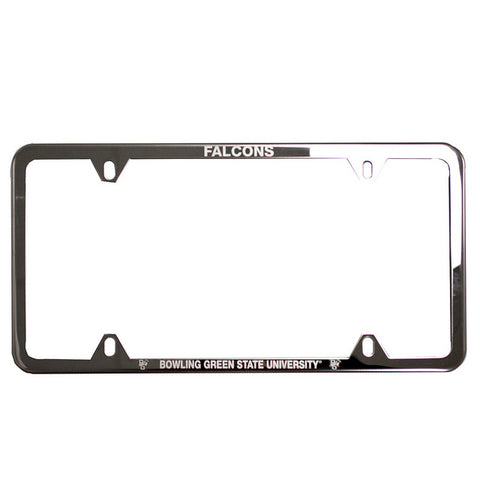 Brushed Falcons Silver License Plate Frame