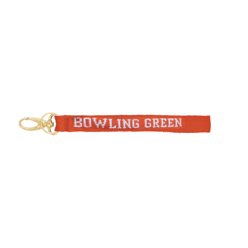Bowling Green Orange Lobster Clasp Key Strap