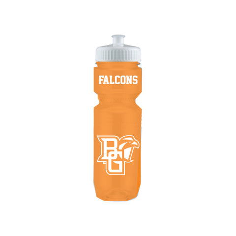 BGSU Falcons Translucent Orange Water Bottle