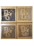BG Wine Barrel Coaster Set