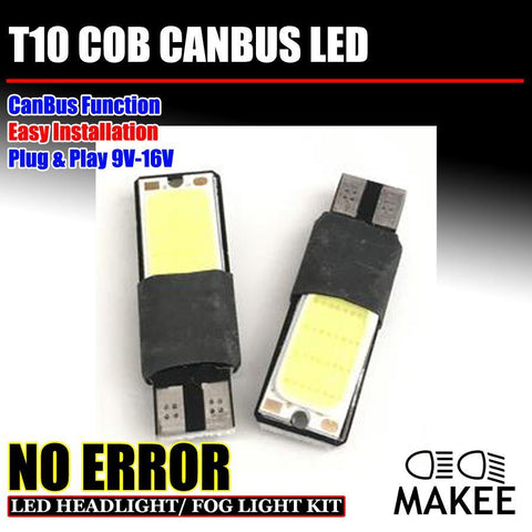 2PC T10 W5W 194 168 No Error COB Canbus Side Lamp Wedge
