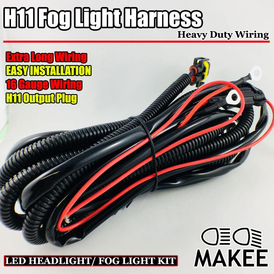 Headlight Fog Light Lamp Wiring Harness With H11 9005 9006 880 Led Plug Sockets Heavy Duty