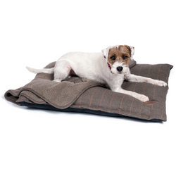 Brown tweed pillow mattress for dogs