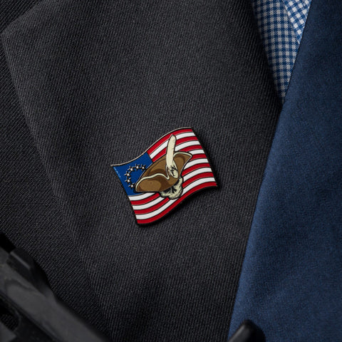 Dark Patriot Quill Pin