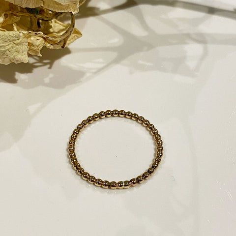 14ct Gold Filled Beaded Wire Stacking Ring