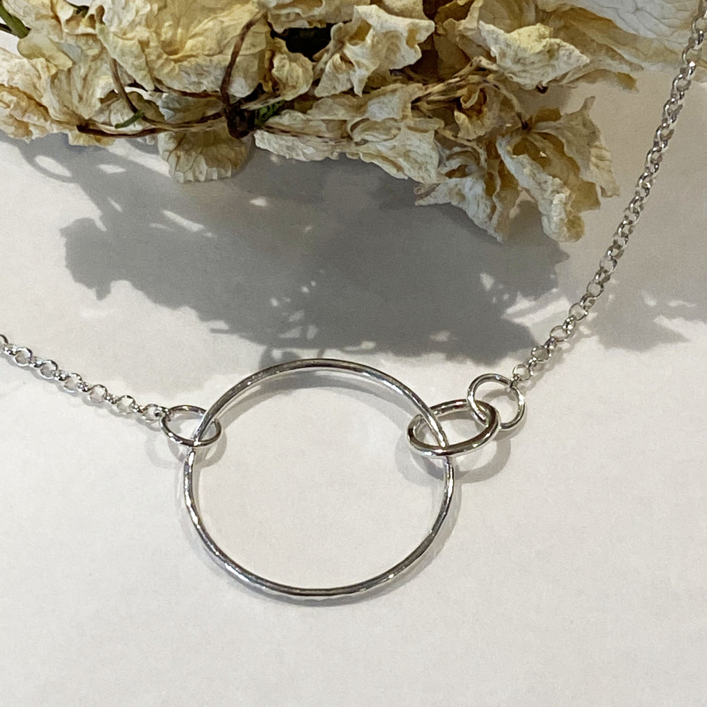 Sophie Thomas Jewellery - Sterling Silver Interlocking Circle Necklace - Style 1 - Nosek's Just Gems