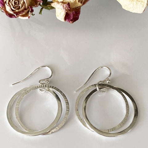 Sophie Thomas Jewellery - Sterling Silver Intertwined Circles Earrings - Nosek's Just Gems