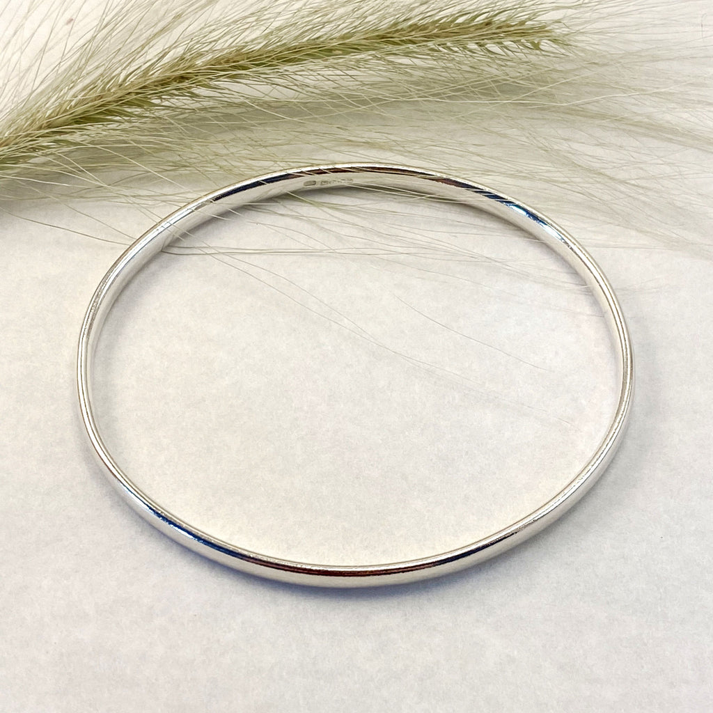 Sophie Thomas Jewellery - Sterling Silver Oval Wire Bangle - Oval - Nosek's Just Gems
