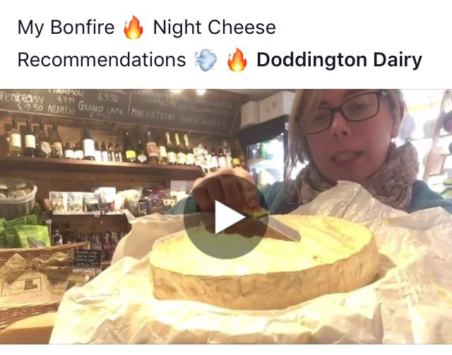 My Bonfire Night Cheese suggestions! Video Blog