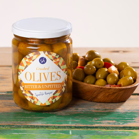 Crushed Unpitted Spanish Olives | Verdial olives