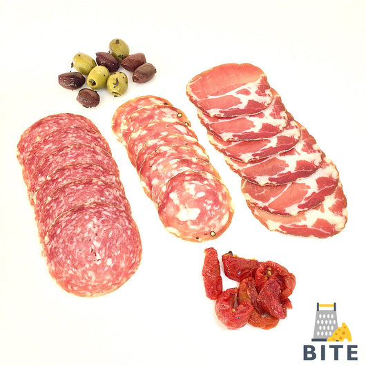 Cured Italian meats selection