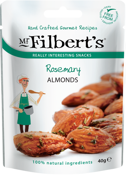 French Rosemary Almonds 40g | Mr Filbert's