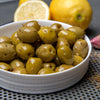 Pitted Green Olives Lemon & Oregano 65g | Mr Filbert's