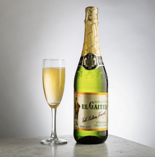 El Gaitero's traditional Gold label Champagnised Cider