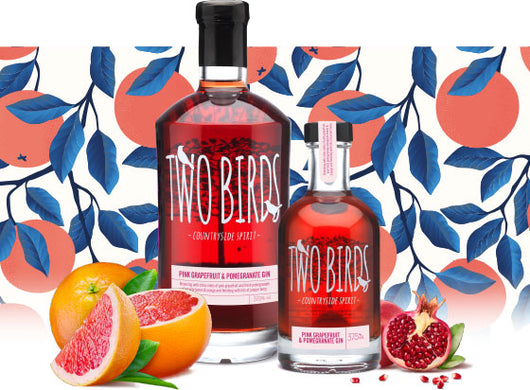 Two Birds Pink Grapefruit & Pomegranate Gin 37.5% abv 200ml