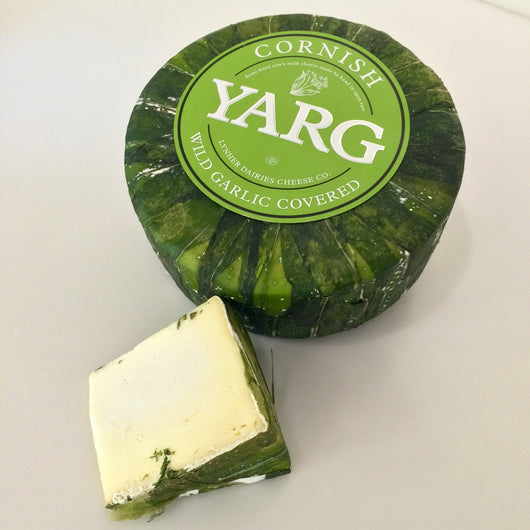 Wild Garlic Yarg Cornish Cheese