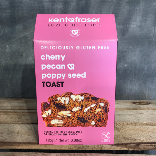 Kent & Fraser | Cherry, Pecan and Poppy Seed Toast | Gluten Free Crackers for Cheese