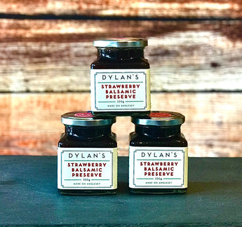 Dylan's Strawberry Balsamic Preserve. Welsh Strawberry balsamic jam
