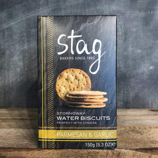 Stag Stornoway Parmesan and Garlic Water Biscuits