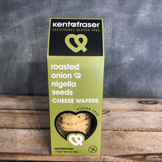 Kent & Fraser Gluten Free Wafers | Roasted Onion and Nigella Seed | Crackers for Cheese
