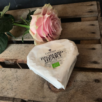 Highland Heart | Connage Highland Dairy | Organic BRIE style Heart 180g | Valentine's Day Cheese
