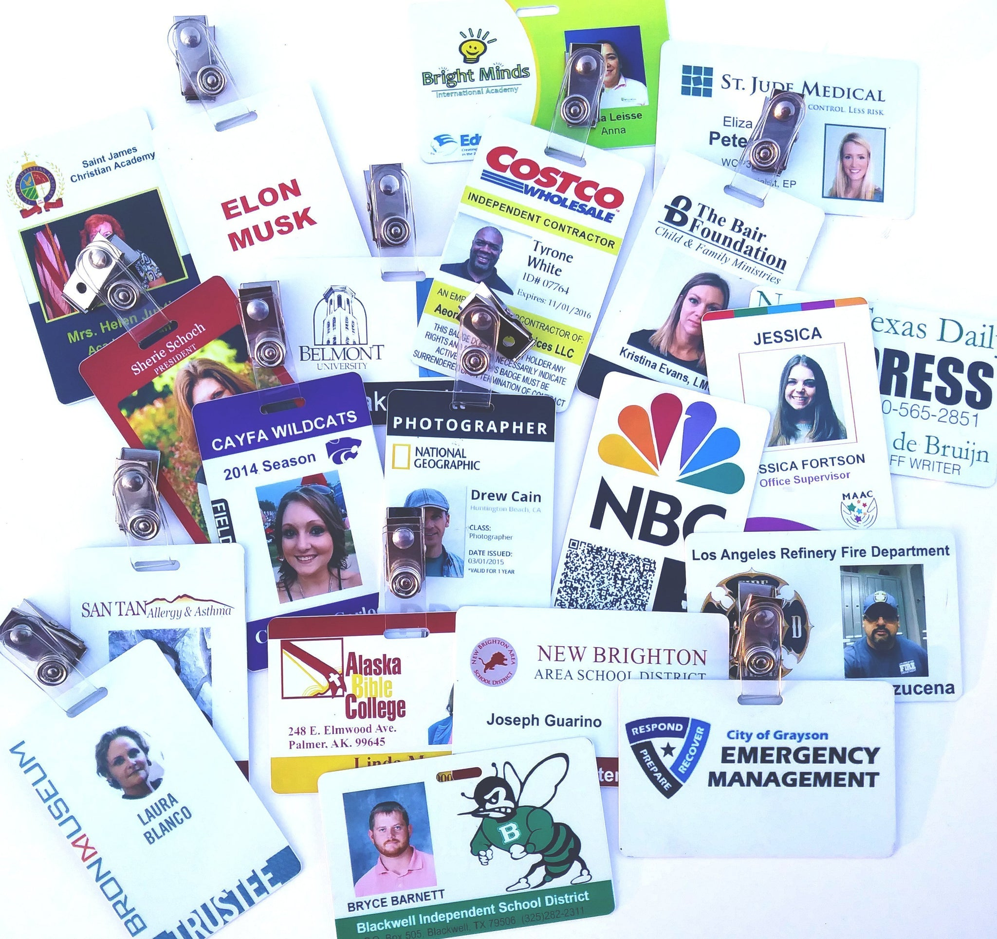 custom plastic photo id badges for your business or work free