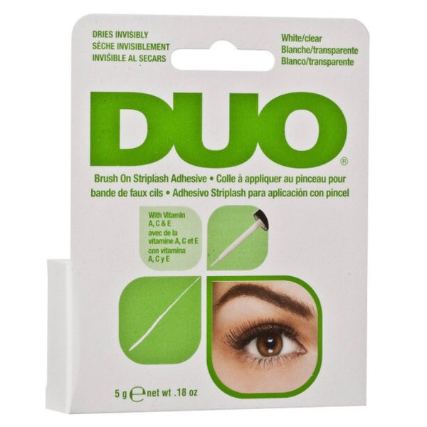 NEW DUO Brush-On Strip Lash Adhesive White/Clear Tone (5g)