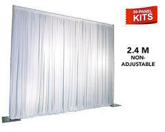 20-Panel Pipe and Drape Kit / Backdrop - 2.4 Meter Tall (Non-Adjustable)