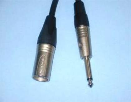 "Audio - XLR Male To 1/4"" TS Cable (Unbalanced)"