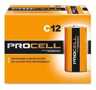Buy 12 pack of C sized, Duracell Procell batteries online at wholesale prices