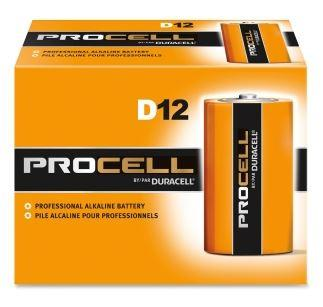 buy 12 pack of D size, Duracell Procell Batteries online at wholesale prices