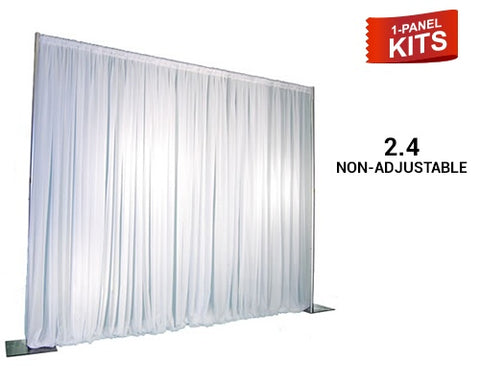 Pipe & Drape - 1-Panel Pipe And Drape Kit / Backdrop - 8ft Tall (Non Adjustable) For Sale Online