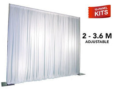 Pipe & Drape - 10-Panel Pipe And Drape Kit / Backdrop - Seven (7) Foot - Twelve (12) Foot Tall (Adjustable)