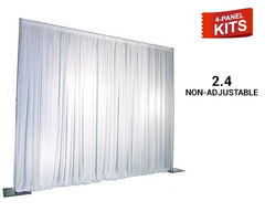 Pipe & Drape - 4-Panel Pipe And Drape Kit / Backdrop - Eight (8) Foot Tall (Non-Adjustable) For Sale Online