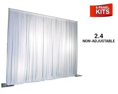 Pipe & Drape - 6-Panel Pipe And Drape Kit / Backdrop - 8 Feet Tall (Non-Adjustable) For Sale Online