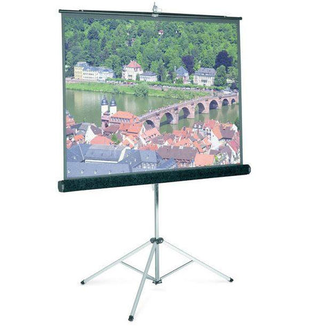 "Projector Screens - 84"" Carpeted Tripod Projector Screen"