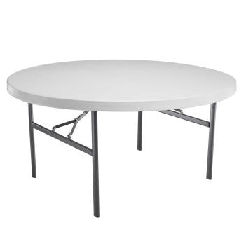 shop lifetime brand sixty inch, five foot round tables for sale online at wholesale prices