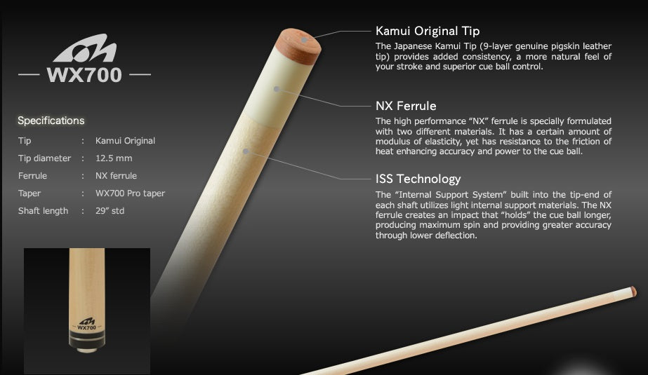 kamui tip wx700 shaft - absolute cues