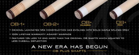 OB CUE SHAFTS 2 PLUS SERIES - ABSOLUTE CUES
