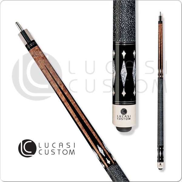 Lucasi Pool Cue - Custom Series - LZ2008 - Antique Stain White Stone - absolute cues