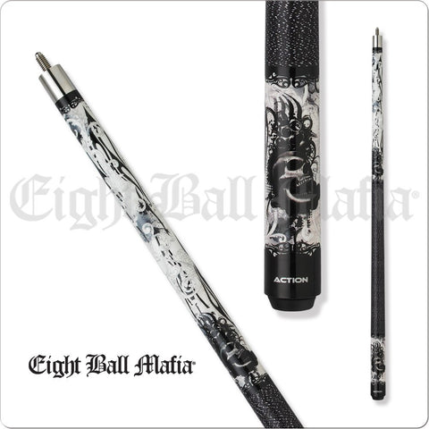 Eight Ball Mafia Cues - Pool Cues - EBM10 - Baroque Brass Knuckles Skull - absolute cues